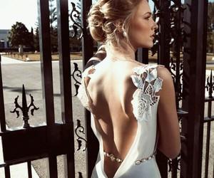 beautiful, wedding dress, and woman image