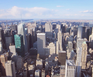 america, city, and empire state building image