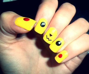 nails, pikachu, and yellow image
