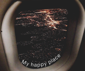 plane, city, and my happy place image