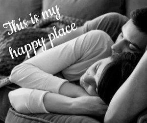cuddle, happy place, and young image