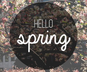 spring and text image