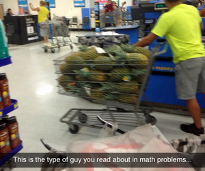 funny, math, and pineapple image