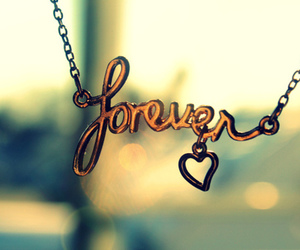 forever, heart, and necklace image