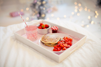 food, breakfast, and strawberry image