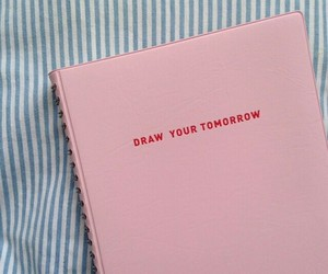 pink, book, and draw image