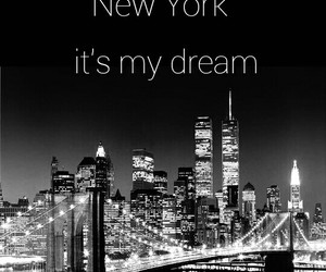 black and white, Dream, and new york image