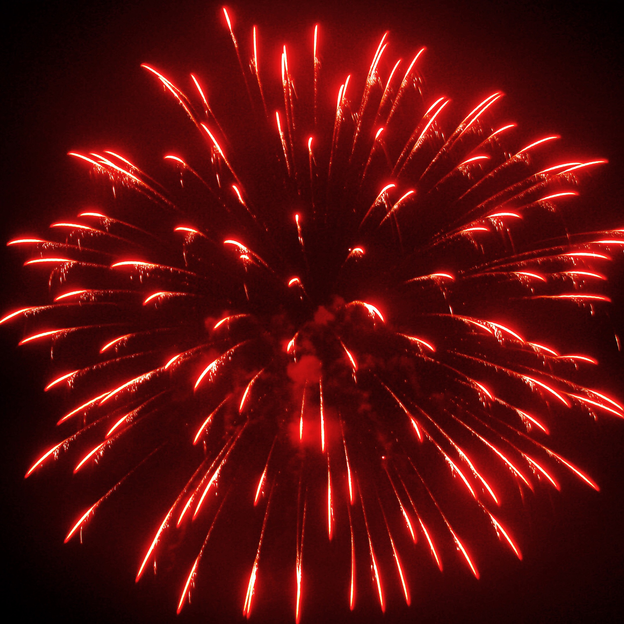 red, fireworks, and aesthetic image