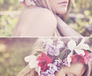 floral, flowers, and model image