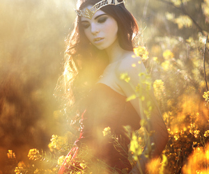 girl, flowers, and fantasy image