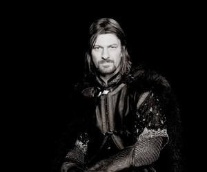noir et blanc, boromir, and the lord of the ring image