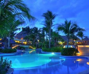pool, blue, and travel image