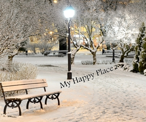 happy, winter, and love image
