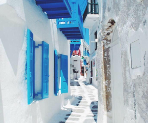 Greece, blue, and street image