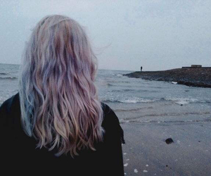 hair, girl, and grunge image