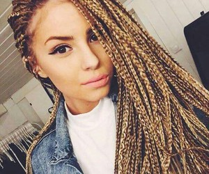 box braids and blonde image