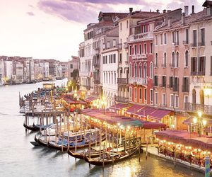venice, italy, and lights image
