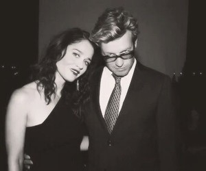 black and white, simon baker, and the mentalist image