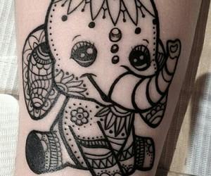 black, elefant, and klein image