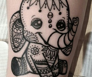black, elefant, and sweet image