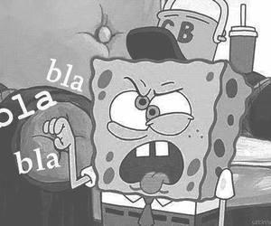 spongebob, funny, and bla bla bla image