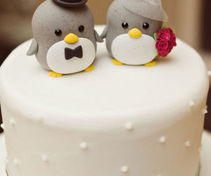 cake, cute, and penguin image