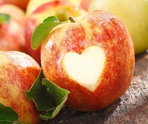 apple, heart, and cute image