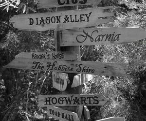 narnia, hogwarts, and harry potter image