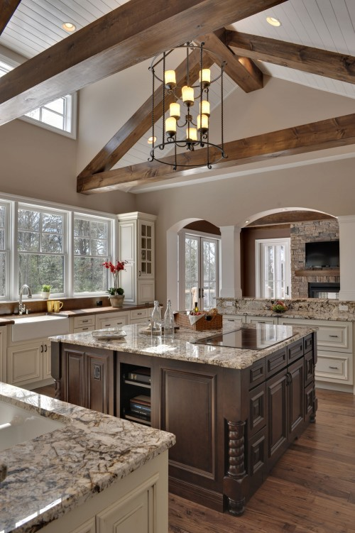 My Dream Home Wood Beams And Counter Tops Are So Gorgeous