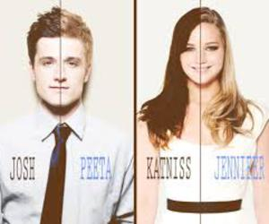 katniss, peeta, and Jennifer Lawrence image