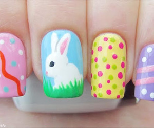 nails, bunny, and easter image