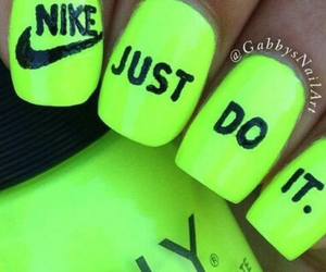 nike, Just Do It, and nails image