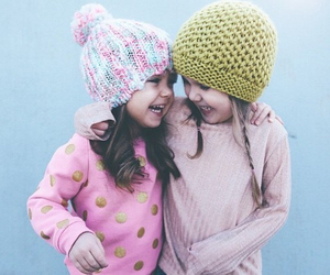 little girl, sisters, and cute image