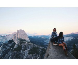 mountains, travel, and girl image