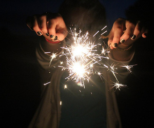 photography, light, and fireworks image