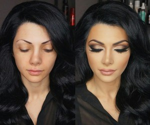 before and after, black, and hair image