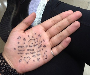 grunge, quotes, and hand image