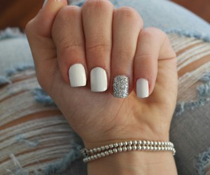 jeans, nail, and nail art image