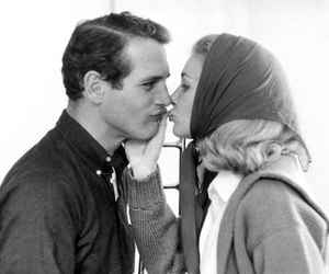 couple, Joanne Woodward, and kiss image