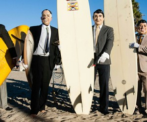 plage, surf, and point break image