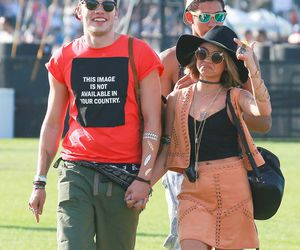 candid, celebrities, and coachella image