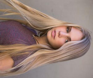 blond hair, girl, and pretty image
