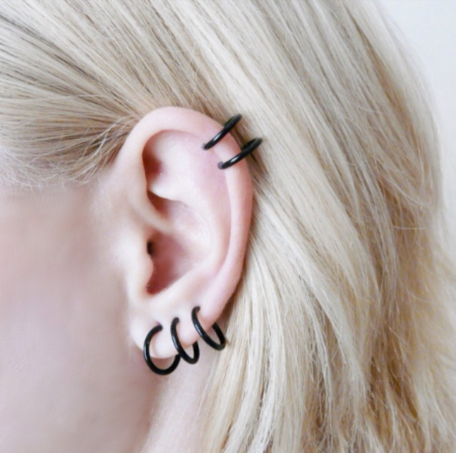 Hoops Earrings Cartilage Piercing Discovered By Hy Little Pill
