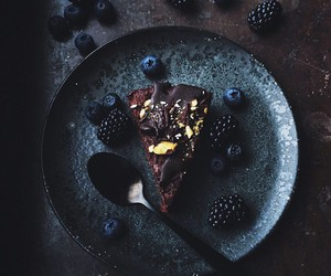 food, cake, and black image