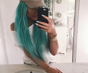 green hair, grunge, and hairstyle image