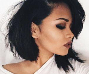 makeup and short hair image