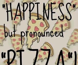 happiness, nice, and pizza image