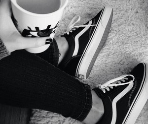 coffee, fashion, and vans image