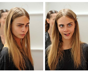 model, cara delevingne, and funny image