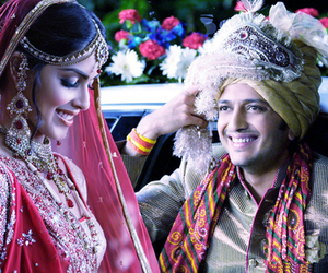 wedding, husband and wife, and riteish deshmukh image